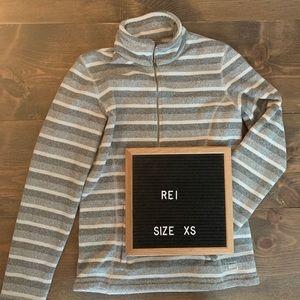 REÍ Striped Quarter Zip